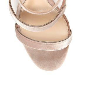 Vince Camuto Shoes - Vince Camuto Blush Velvet Heels Size 11